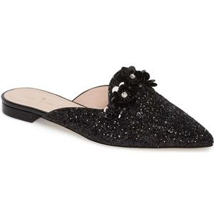 Kate Spade black sequin 'Betty' mule
